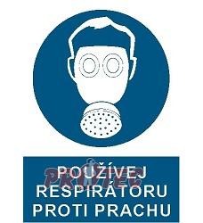 B.t.plast Používej respirátoru proti prachu A4