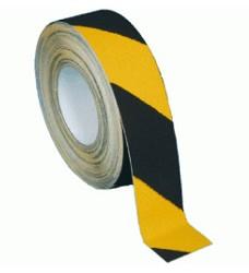 Páska protiskluzová žluto-černá samolepící 5cm x 18m