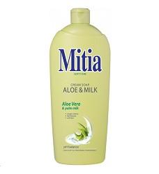 MITIA mýdlo tekuté 1l/10 Aloe & Milk s extraktem z Aloe Vera