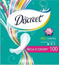 Vložky hygienické DISCREET  Multiform deo waterlily 100ks
