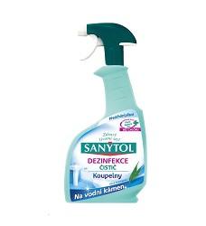 SANYTOL dezinfekční čistič koupelny 500ml/12 s rozprašovačem na rez a vodní kámen