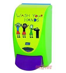 Dávkovač mýdla Deb PROLINE zelený Wash Your Hands /dětský/ apex