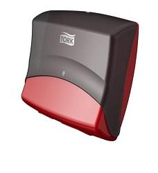 TORK 654008 zásobník na skládané utěrky Top Holder /39.4x42.7x20.6cm/červeno-černá