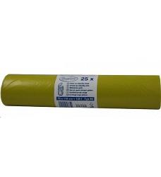 Pytle na odpad žluté 69765 LDPE 70x110/120l 25ks - role, 10rolí v kartonu