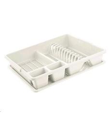 Odkapávač KLASIK na nádobí s podnosem velký 35 x 43 x 9 cm mix barev