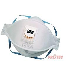 Respirátor skládací 3M, 9322+, FFF2 NR, výdechový ventil.,do 12x NPK P, 10ks=1 balení