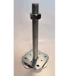 Patka pilíře 110x110x250x4.0 mm M24 volná matka