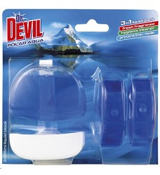 Dr.DEVIL WC blok POLAR AQUA 3x55 ml/12 + koš