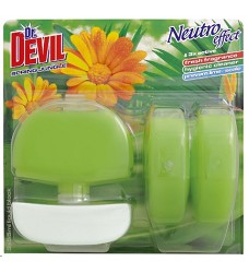 Dr.DEVIL WC blok SPRING JUNGLE 3x55 ml/12 + koš