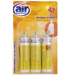 Osvěžovač vzduchu náhradní LIMBER AIR MENLINE happy sprej 3x15ml /14