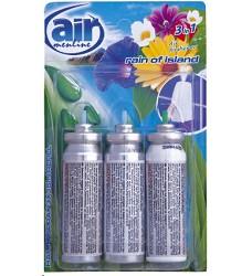 Osvěžovač vzduchu náhradní 3x15ml /14  RAIN OF ISLAND AIR MENLINE