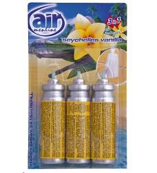 Osvěžovač vzduchu náhradní 3x15ml /14 SEYCHELES VANILLA  AIR MENLINE