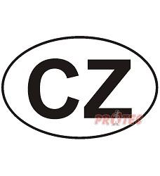B.t. samolepka  CZ   ( 18x12cm) DP23