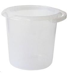 Vědro plastové transparentní 10 l pro styk s potravinami