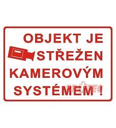 B.t. folie Objekt střežen kamer. systémem A4