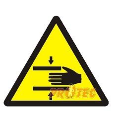 B.t.samolepka Nebezpečí stisku ruky 7,5x7,5