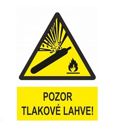 B.t. pl. Pozor tlakové lahve A4