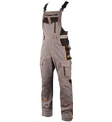 Montérkové kalhoty VISION H9108 laclové šedo-oranžové