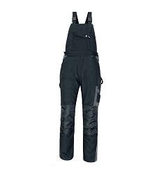 Montérkové kalhoty ALLYN pánské s laclem černé-šedé