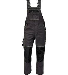 Montérkové kalhoty KNOXFIELD pánské s laclem elastické šle antracit-žlutá