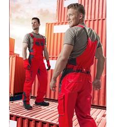 Montérkové kalhoty  VISION H9155 laclové 183-190 cm prodloužené červené