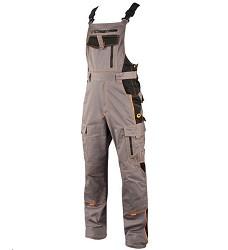 Montérkové kalhoty VISION H9121 laclové 183-190 cm prodloužené šedo-oranžové