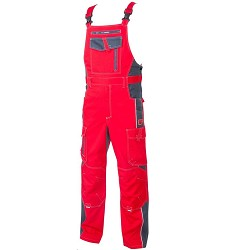 Montérkové kalhoty VISION H9158 laclové červeno-šedé 170 cm