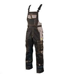 Montérkové kalhoty VISION H9105 laclové černo-šedé