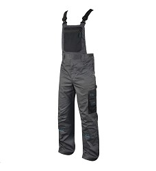 Montérkové kalhoty 4TECH 03 H9302 pánské s laclem šedo-černé