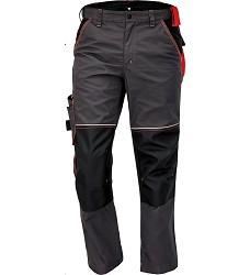 Montérkové kalhoty KNOXFIELD pánské do pasu s elastickým pasem antracit-červená