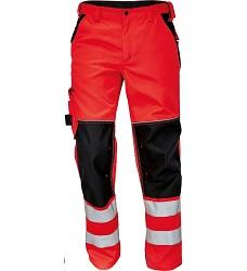Montérkové kalhoty KNOXFIELD Hi-Vis pánské reflexní do pasu červené