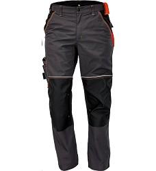 Montérkové kalhoty KNOXFIELD pánské do pasu s elastickým pasem antracit-oranžová