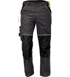 Montérkové kalhoty KNOXFIELD pánské do pasu s elastickým pasem antracit-žlutá