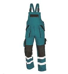 Montérkové kalhoty MAX REFLEX WINTER pánské zimní s laclem zeleno-černé