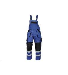 Montérkové kalhoty MAX REFLEX WINTER pánské zimní s laclem modro-černé