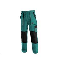Monterkové kalhoty Jakub do pasu zimní zeleno černé