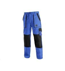 Monterkové kalhoty Jakub do pasu zimní zateplené modro-černé