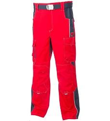 Montérkové kalhoty VISION H9151 pasové 176-182 cm červené