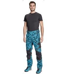 Montérkové kalhoty NEURUM CAMOUFLAGE pánské petrolejovo-černé