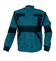 Montérková bunda MAX 2v1 100% bavlna 260g/m2 zeleno/černá
