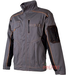 Montérková bunda VISION H9106 šedo-oranžová