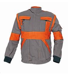 Montérková bunda MAX 2v1 100% bavlna 260g/m2 šedo/oranžová