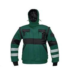 Montérková bunda MAX REFLEX WINTER pánská zimní zeleno-černá
