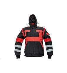 Montérková bunda MAX REFLEX WINTER pánská zimní černo-červená