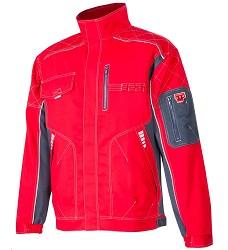 Montérková bunda VISION H9153 183-190 cm prodloužená červená