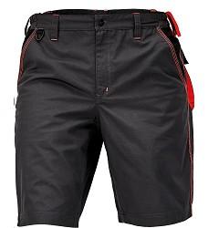 Montérkové kraťasy KNOXFIELD pánské s elastický pasem antracit-červená