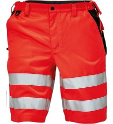 Kraťasy KNOXFIELD Hi-Vis páské reflexní s elastickým pasem červené