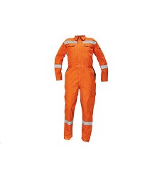 Montérková kombinéza CROYDON pánská s límcem s reflexními doplňky oranžová
