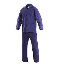 Montérková souprava JARDA 100% bavlna 240g/m2 194 cm modrá