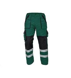 Montérkové kalhoty MAX REFLEX WINTER pánské zimní do pasu zeleno-černé